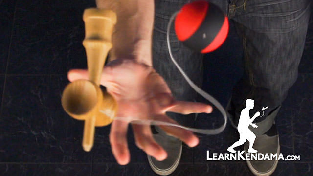 Juggle to Spike Kendama Trick