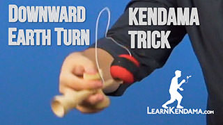 Downward Earth Turn Kendama Trick