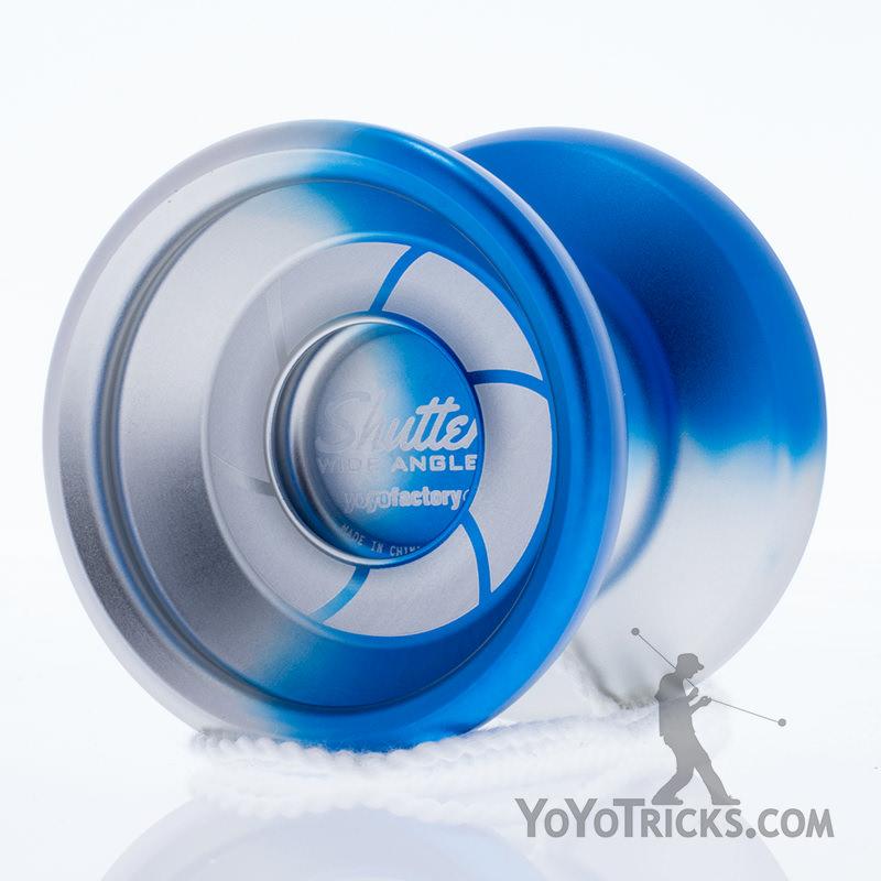 wide angle shutter yoyo blue silver fade