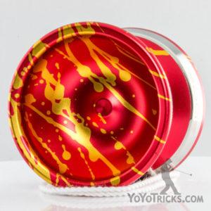 Gold Red Splash Edge Yoyo YoYoFactory