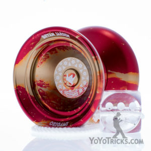red gold origami yoyo duncan