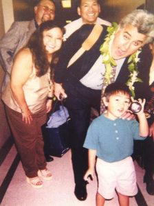 Evan Nagao with Jay Leno