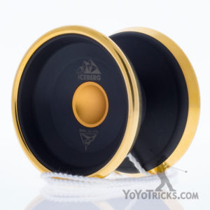 black with gold rims iceberg yoyo