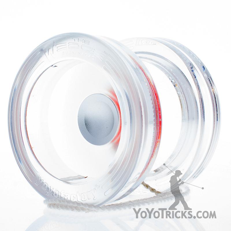 wedge yoyo yoyofactory clear silver hub