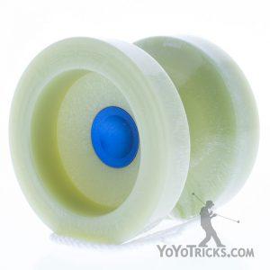 yoyofactory glow in the dark wedge yoyo blue cap