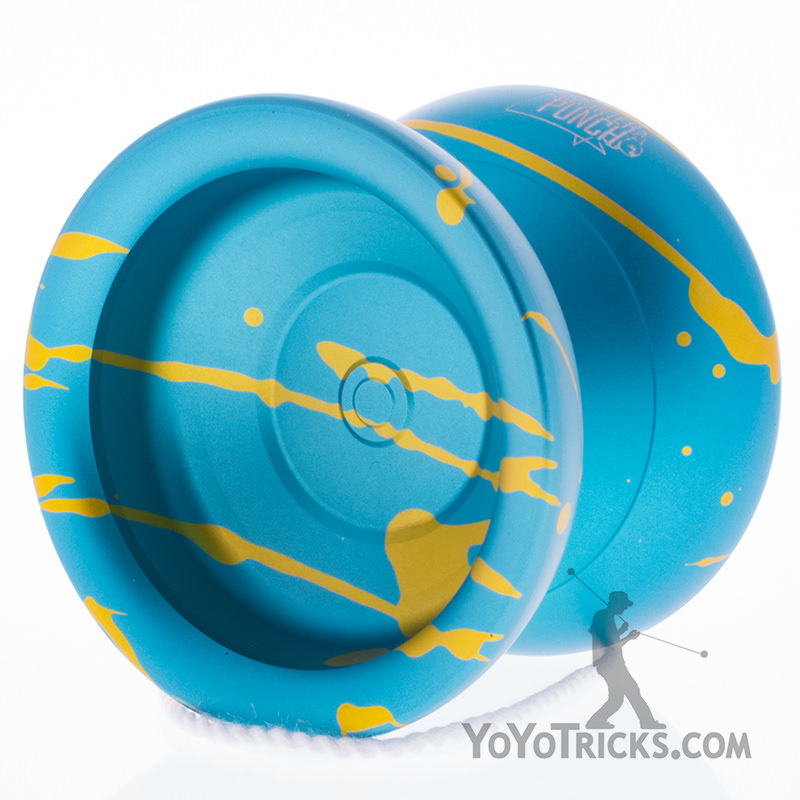 teal yellow splash duncan counterpunch yoyo