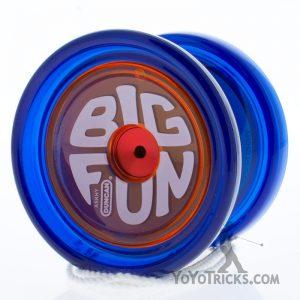 blue orange cap duncan big fun yoyo