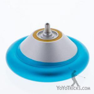 silver aqua rim MVP 3 yoyo open half yoyofactory