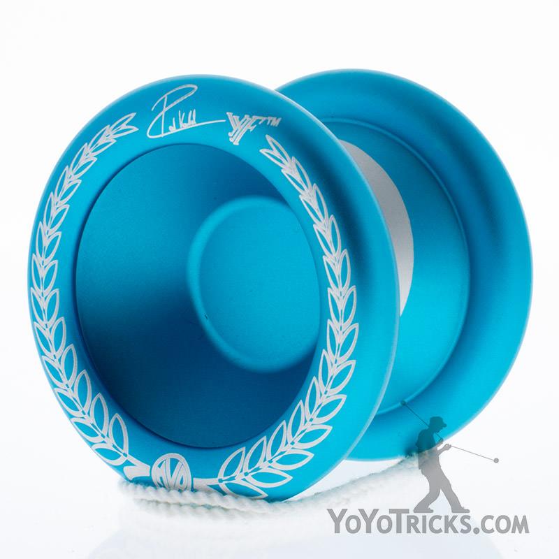 silver aqua rims MVP 3 yoyo large rim engraving yoyofactory yoyo