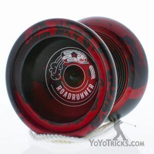 black red splash duncan roadrunner yoyo