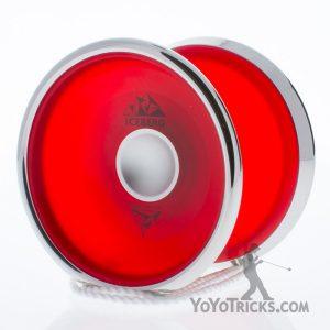 red iyoyo iceberg yoyo silver ring
