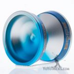 blue silver fade blue ring edge yoyo