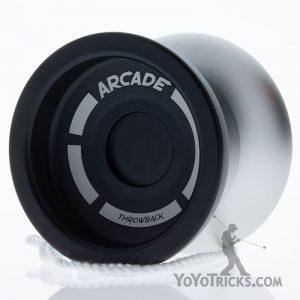 black silver arcade yoyo throwback skilltoys
