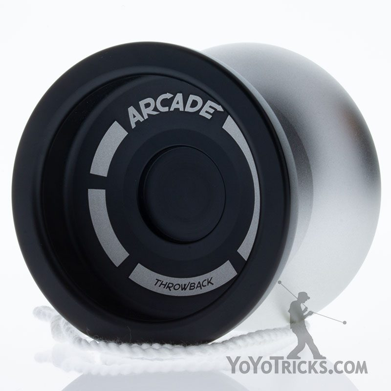 black silver arcade yoyo throwback skilltoys