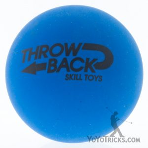 high bounce juggling balls single blue throwback skilltoys