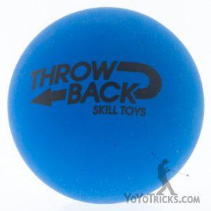high bounce juggling balls single blue throwback skilltoys