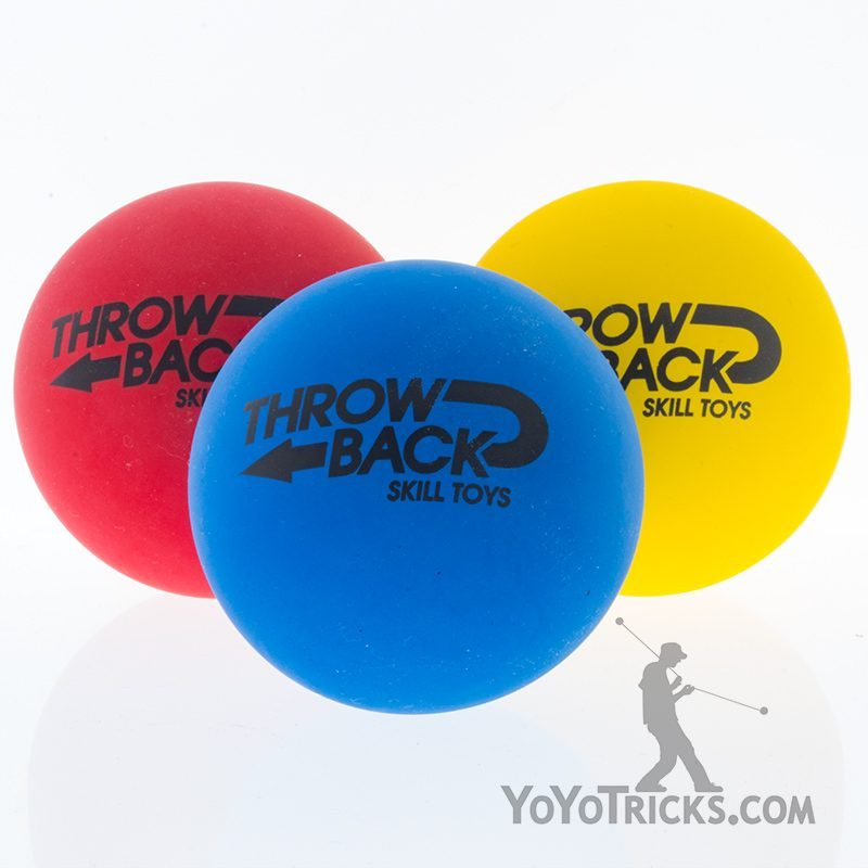 high bounce juggling balls mixed colors throwback skilltoys