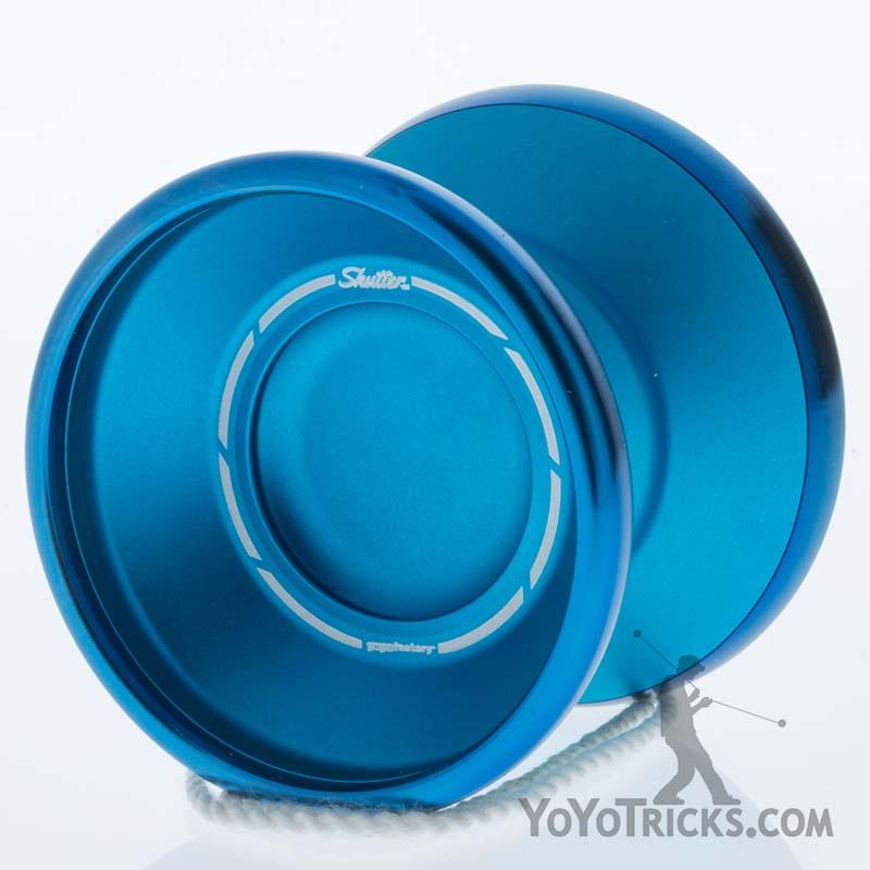 aqua blue ring yoyofactory bi metal shutter yoyo