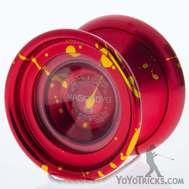 red gold splash k8 yoyo magic yoyo
