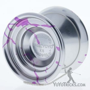 silver purple splash k8 yoyo magic yoyo