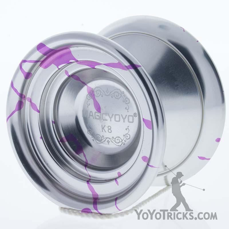 silver purple splash k8 yoyo magic yoyo
