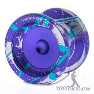 purple aqua splash horizon pivot prototype yoyo