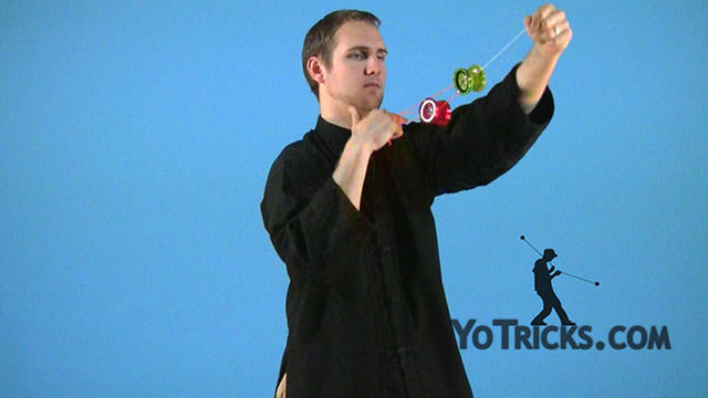 Assisted Mach 5 Yoyo Trick