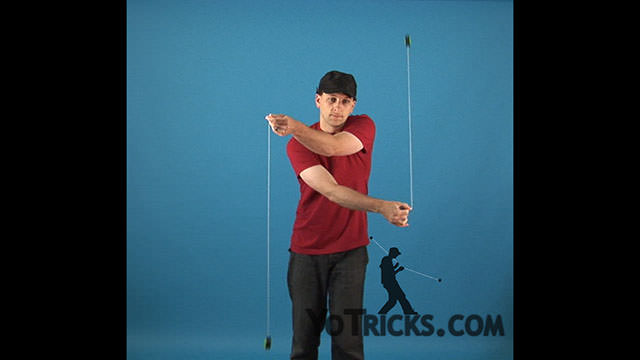 Two-Handed Around the World Yoyo Trick
