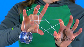 Two-Handed Star Yoyo Trick